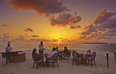 Sunset diner in Maldives | Dreaming of Maldives – The Blog. The ...