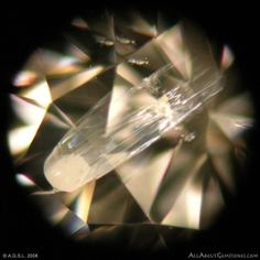 """Microscopic Diamond Inclusiong Photography:  """"This is an assortment of spectacular diamond-inclusion photography taken by Joe Vanells, showing the strange and beautiful world of microscopic diamond inclusions."""" * truly beautiful shots showing how unique each diamond is * pic: Natural Comet Inclusion"""