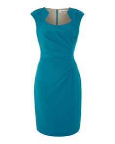 Kenneth Cole | Blue Shift Dress with Ruched Side Detail | Lyst