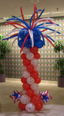 4th of July Independance Day Balloon Firework Column
