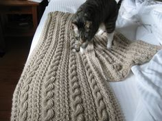 Free Pattern: Coin Lace and Cable Wrap by Shui Kuen Kozinski