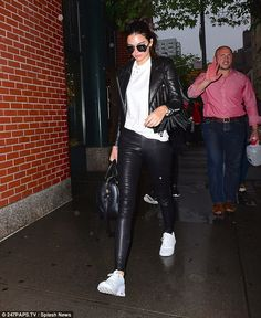 Seeing them later? At the same time, Kim's sister Kendall Jenner was seen walking around N...