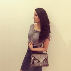 """The """"SUMMER"""" clutch in a metallic gunmetal python belly with a woven gold chain - the perfect clutch to run around town and spruce up any outfit! #slouchymeetsstructure #luxury #style #fashion #elegance #nofilter #luxuryhandbag #pythonbag #python #handmade #bespoke #custom #grey #metallics #love #armcandy #musthave #laykh #laykhlooks #laykhlady - http://laykh.com/shop/clutch-bags/summer_metallic_gunmetal_python_clutch_bag/"""