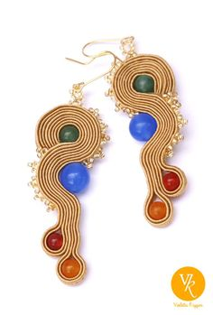 Coloured Gold earrings; other works you can find at facebook, just search for violettakrygier