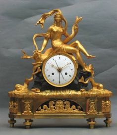 Rare ormulu and bronze French clock