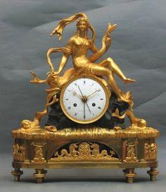 Rare ormulu and bronze French clock