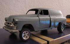 """Model of a 54 Chevy Panel I bought at Macy´s in New York 1974, customized as a typical """"Gasser"""""""