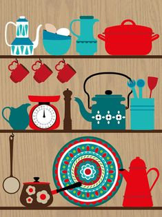 Retro Kitchen Utensils By ProjectType | Prints | Pinterest | Kitchen  Utensils, Utensils And Retro