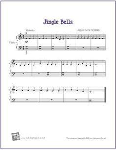 Piano Sheet Music for Beginners | Jingle Bells | Free Sheet Music for Beginner Piano | Flickr - Photo ...