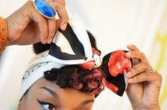 DouxRags 3Way Reversable Vintage Inspired Retro by DouxRags, Reversible Luxury Statement Pieces designed in Paris exclusively for fashion-savvy lovers of unique hair accessories. DouxRags® Hair Scarf • Bandana • Bow Ties can be worn on either side, and tied to expose the pattern combination of your choice. Inspired by pop art, hip-hop throwbacks, Afro-European street style, and graffiti, DouxRags® are a super-fresh, modern version of the classic pin-up style hair bow.