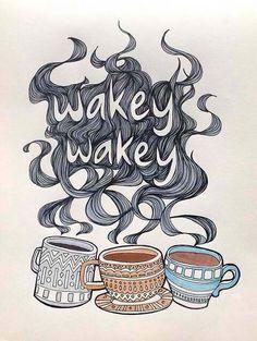 Mornings, sponsored by coffee.
