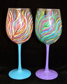 Paint Nite - Colorful Peacock Feather Glasses. Use ORLANDOVIP at checkout for $20 off all tickets at paintnite.com
