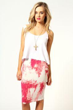 Lulu Paint Splash Jersey Midi Skirt! Im all about the paint <3