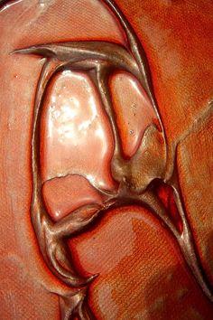 "Abstract Art ""Metaldunes""  Mixed Media on Canvas (Detail)"