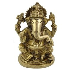 Amazon.com: Hindu Religious Gifts Lord Ganesha Brass Statue 2.75 X 2 X 4.5 Inches: Furniture & Decor