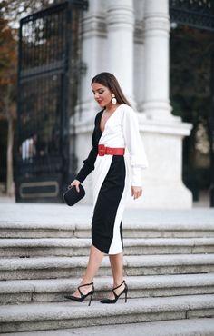 Black and White Dress Black Dress Outfits, White Outfits, White Dress, Formal Looks, Black N White, Occasion Wear, Dress Codes, Short Dresses, Womens Fashion