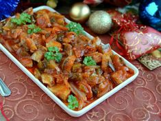 Śledzie po kaszubsku Christmas Cooking, Thai Red Curry, Ale, Meat, Chicken, Baking, Dinner, Ethnic Recipes, Food