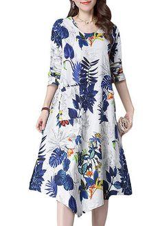 Asymmetric Hem Pocket Design Long Sleeve Dress on sale only US$29.69 now, buy cheap Asymmetric Hem Pocket Design Long Sleeve Dress at lulugal.com
