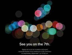 Evento do iPhone 7 já tem data divulgada pela Apple - http://www.showmetech.com.br/evento-do-iphone-7-ja-tem-data-divulgada-pela-apple/