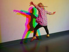 Little Hiccups: Exploratorium Multiple light sources. Possible option for USC dinner? Interactive Installation, Interactive Art, Installation Art, Olafur Eliasson, Exhibition, Stage Design, Light Art, Color Theory, Colors