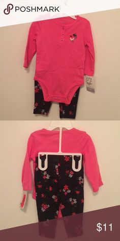 BNWT Carters matching outfit. Size 6mos Selling this cute BNWT Carters long sleeves and pants matching outfit. Size 6mos Carter's Matching Sets