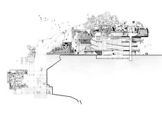 Imagining new futures for the Unfinished Piraeus Cultural Centre - originally designed by Ioannis Liapis, drawing by Alexandra Diamanti