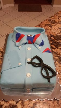 Dress shirt and bow tie cake