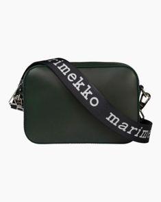 Laukut –Tervetuloa ostoksille - Marimekko Marimekko Bag, Green Shoulder Bags, Green Bag, Italian Leather, Sale Items, Bag Accessories, Leather Bag, Sunglasses Case, Shoulder Strap