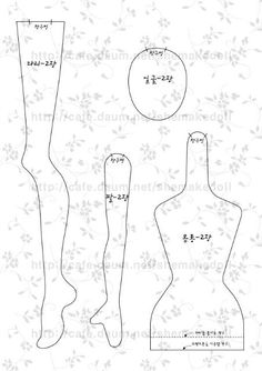 Shapely limbs doll pattern