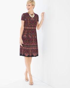 Chico's Women's Mosaic Print Short Dress