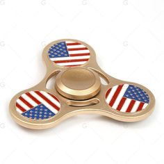 Patriotic American Flag Metal Fidget Tri Hand Spinner ($6.96) ❤ liked on Polyvore featuring home, outdoors, outdoor decor, gamiss, american flag outdoor decor, outdoor metal decor and metal garden decor