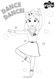 The Wiggles Activity: Color Emma the Dancer! Wiggles Birthday, Wiggles Party, The Wiggles, Birthday Box, Mickey Mouse Coloring Pages, Cartoon Coloring Pages, Birthday Themes For Boys, 2nd Birthday Parties, Birthday Ideas
