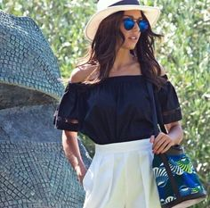 Perfectly put-together and looking #flawless. Ismini Dafopoulou - Star Hellas / Miss Universe Greece 2014 in the @AncientKallos Crop Top and unique @Kimale Ifi Bag! #wecreateharmony #ancientkallos #kimale Shop the look here ▷ Ancient Kallos Crop Top: http://bit.ly/1I96hgc Kimale Bag: http://bit.ly/1U6HjFW