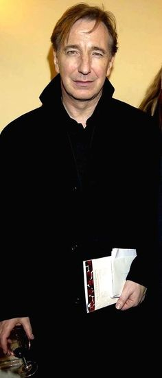 Alan at premiere 'When Love Speaks'. The Old Vic Theatre, London. Feb10, 2002
