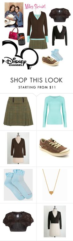 """""""Miley Stewart from Hannah Montana #throghbackthursday"""" by monicat98 ❤ liked on Polyvore featuring M&S Collection, Teva, Paul Smith, Minnie Grace, LIU•JO, Disney and Juicy Couture"""