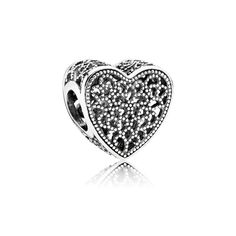 Celebrate timeless romance with this elaborate vintage-inspired heart charm in sterling silver by PANDORA. Shop your Pandora Charms here. Charms Pandora, Pandora Hearts, Pandora Heart Charm, Pandora Uk, Pandora Rings, Pandora Bracelets, Pandora Jewelry, Silver Bracelets, Pandora Store