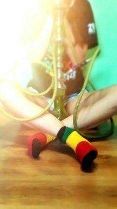 Polish girl socks shisha woodstock reggae