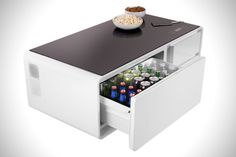 This Amazing Coffee Table Keeps Beers Cold, Plays Music and Even Charges Your Phone - Maxim