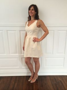 Keep it simple and chic in neutral. Italian style, only by Via Strozzi. #VS30Days #Neutral #dress #spring #OOTD #heels #Luxury #SATC