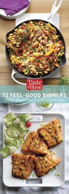 75 Low-Calorie Dinners That Make You Feel Good Low Calorie Dinners, Low Calorie Recipes, Diet Recipes, Cooking Recipes, Healthy Recipes, Easy Diets, Easy Meals, Healthy Dinners, Meal Planner