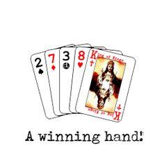 King Jesus - Winning Hand King Jesus, Tatting, Playing Cards, Faith, Christian, Bobbin Lace, Playing Card Games, Needle Tatting, Loyalty
