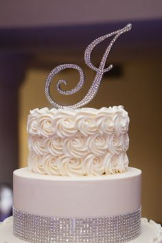 love the texture - Swarovski Crystal Monogram Cake by EnchantingMoment, $49.00
