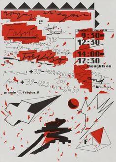 Fabrica Treviso, 1998 Wolfgang Weingart - Typographic Posters. CLASSIC