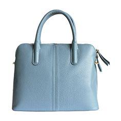 Serafina Italian Blue Leather Dome Handbag - £54.99 9b6ccb35ba38f