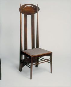 Place of origin: Glasgow, Scotland (made) Date: (designed) Artist/Maker: Mackintosh, Charles Rennie, born 1868 - died 1928 (designer) Materials and Techniques: [Chair] Stained oak [Drop-in seat] Upholstery Mackintosh Chair, Mackintosh Furniture, Upholstery Trim, Furniture Upholstery, Upholstery Cushions, Upholstery Cleaning, Art Nouveau, Art Deco Chair, Charles Rennie Mackintosh
