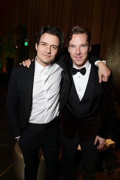 Benedict Cumberbatch and Orlando Bloom at The Hobbit premiere