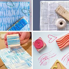 27 The Cheapest & Easiest Tutorials To Make Astonishing DIY Wall Art Diy Wand, Diy And Crafts, Crafts For Kids, Arts And Crafts, Arte Cello, Diy Stamps, Diy Wall Art, Fabric Painting, Craft Videos