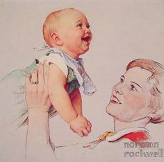 Image result for norman rockwell baby