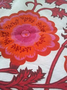 vintage curtain fabric