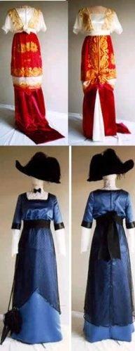 1909-1913 Edwardian Day Evening Dress 2-26 Laughing Moon Costume Pattern  104